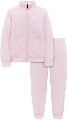 watch 261ce 50d84 Nike Girls Nsw Tricot Tracksuit - Pink White