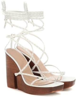 Jacquemus Pilotis wedge sandals