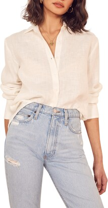 Reformation Preston Button-Up Blouse