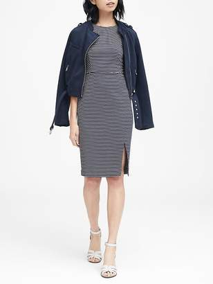 Banana Republic Stripe Ponte Sheath Dress