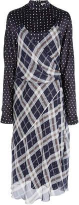 Sportmax Poltava Multi-Print Silk Midi Dress