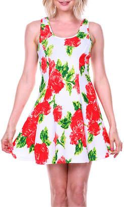 WHITE MARK White Mark Celica Sleeveless Floral Sheath Dress
