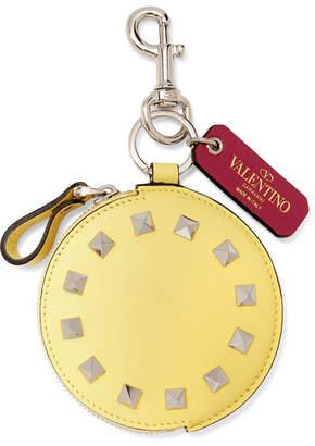 Valentino Garavani The Rockstud Leather Bag Charm - Yellow