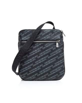 Emporio Armani Men's Small Logo Print Messenger Bag board
