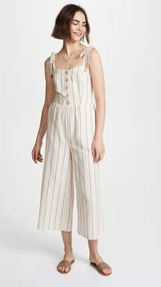 Moon River Striped Jumpsuit
