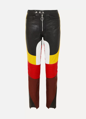 Marques Almeida Marques' Almeida - Color-block Leather Straight-leg Pants - Black