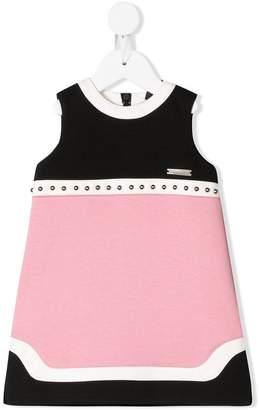 DSQUARED2 studded colourblock sleeveless dress
