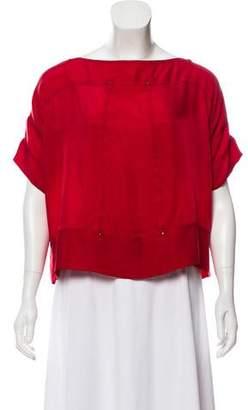 Diane von Furstenberg Cropped Teela Top