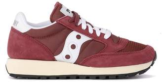 Saucony Jazz Vintage Red Suede And Fabric Sneaker