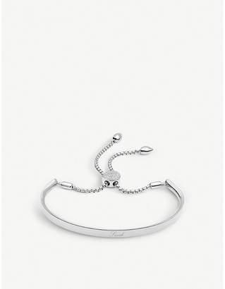 Monica Vinader Fiji diamond pavé sterling silver friendship bracelet, Silver