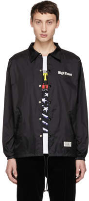 Wacko Maria Black High Times Edition Coaches Jacket