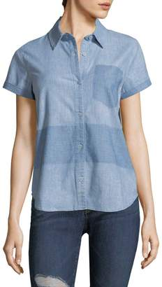 J Brand Women's Wylie Short Sleeve Denim Shirt