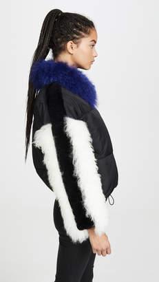 Adrienne Landau Multi Fur Jacket