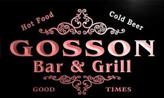AdvPro Name u17379-r GOSSON Family Name Gift Bar & Grill Home Beer Neon Light Sign