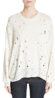Women's T By Alexander Wang Distressed Sweater $395 thestylecure.com