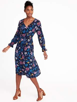 Old Navy Waist-Defined Midi Dress for Women