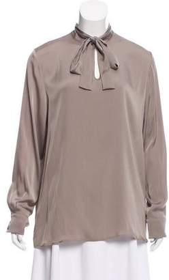 Eleventy Silk Long Sleeve Top w/ Tags
