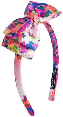 Oscar de la Renta Floral Bow Headband