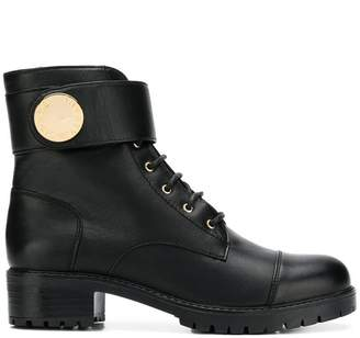 Emporio Armani chunky combat boots
