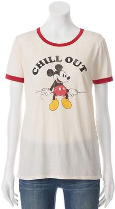 "Disney's Mickey Mouse Juniors' ""Chill Out"" Ringer Graphic Tee $24 thestylecure.com"