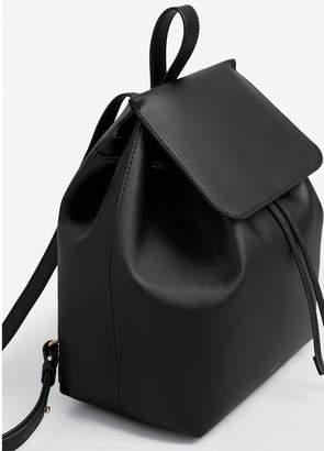 MANGO (マンゴ) - MANGO リュックバッグ M MINIMAL8 (ブラック)