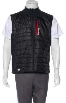 Descente Zip Front Mock Collar Vest