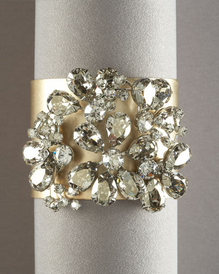 JANIS by Janis Savitt Brass Crystal Cuff