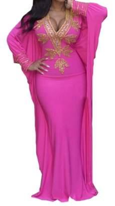6646a9eeb1a XQS Womens Shawl Bodycon African Print Cape Bat Sleeve Maxi Dress L