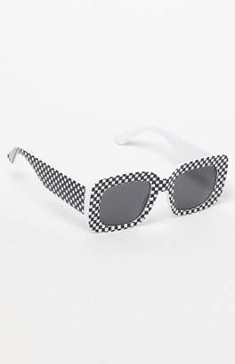 PacSun Checkered Square Sunglasses