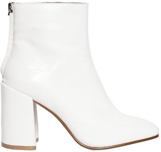 90mm Posed Faux Leather Boots $127 thestylecure.com