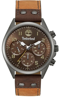 Timberland 'Wolcott' Multifunction Leather Strap Watch, 44Mm $179 thestylecure.com