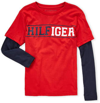Tommy Hilfiger Boys 8-20) Logo Long Sleeve Tee