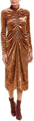Tibi Velvet Midi Dress