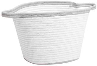 Pottery Barn Kids Grey Cotton Rope Basket, Small