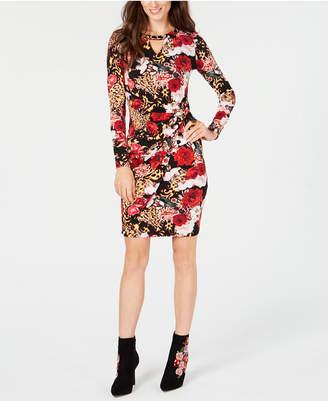 Thalia Sodi Printed Chain-Detail Dress