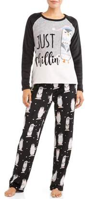 Secret Treasures Women's Long Sleeve Pajama Set (AE)