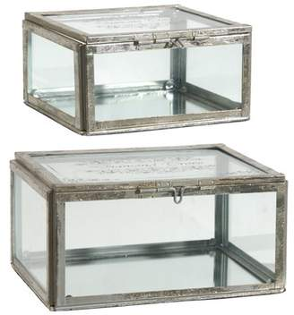 A&B Home 2-Piece Amelia Trinket Box Set