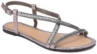 OLIVIA MILLER Treasure Multi Rhinestone Studded Sandals Women Shoes