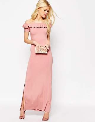 Asos DESIGN Off Shoulder Maxi Dress With Ruffle