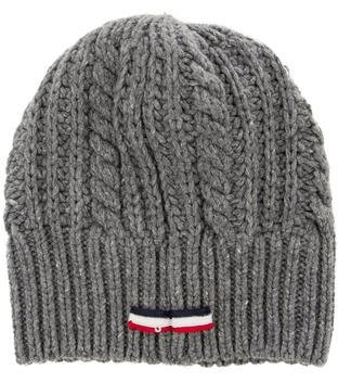 Moncler Gamme Bleu Wool Rib Knit Beanie $195 thestylecure.com