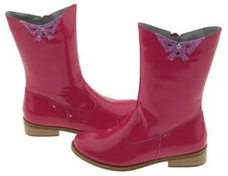 IM Link Girls Fuchsia Patent Cutout Bow Fashion Boots Toddler Little Girls 7-4