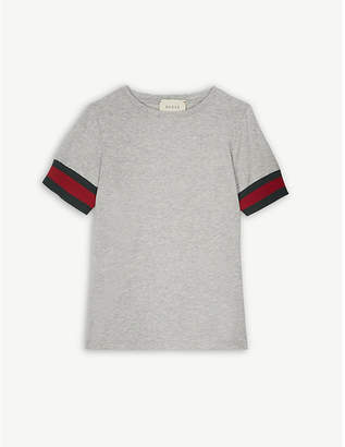 Gucci Web stripe cotton t-shirt 4-12 years