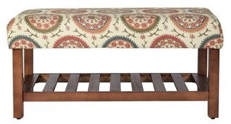HomePop Decorative Entryway Bench, Multiple Colors