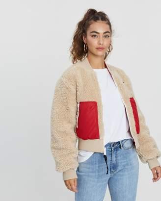 Tommy Jeans Reversible Sherpa Bomber Jacket