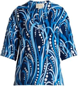 LA DOUBLE J The Terry cotton-blend top