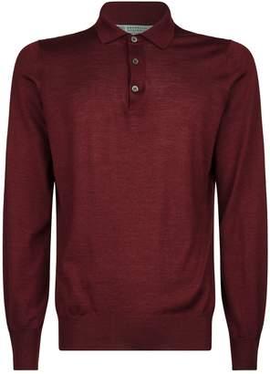 Brunello Cucinelli Silk-Cashmere Polo Shirt
