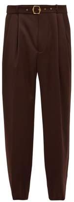Sies Marjan - Andy Wool Twill Trousers - Mens - Brown