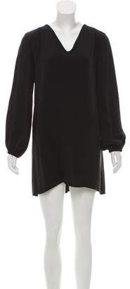 Marc Jacobs Long Sleeve Silk Dress