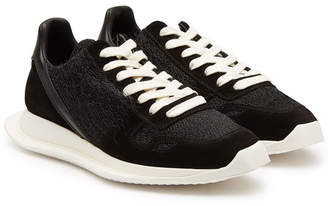 Rick Owens Suede and Leather Sneakers