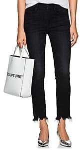 3x1 Women's W3 Straight Authentic Crop Jeans - Black